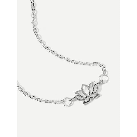 Hollow Lotus Detail Chain Anklet