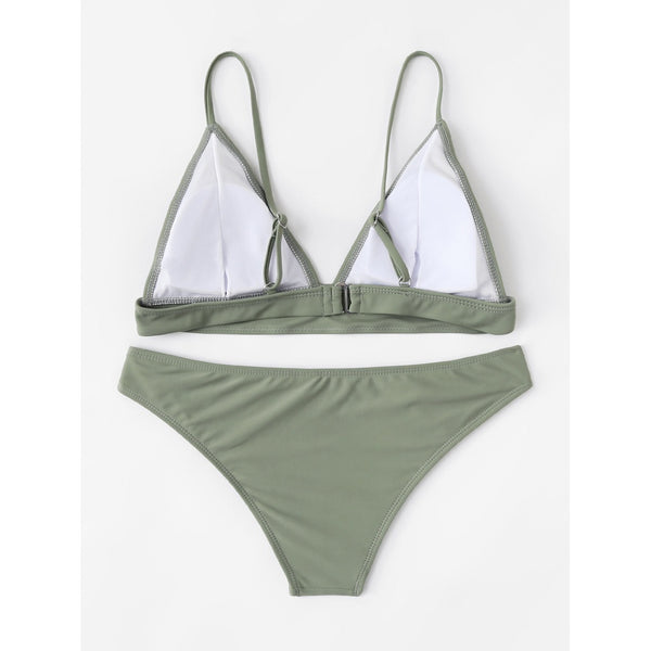 Adjustable Straps Bikini Set ARMY GREEN