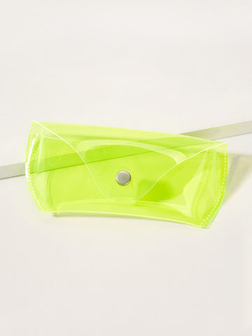 Neon Green Transparent Glasses Case