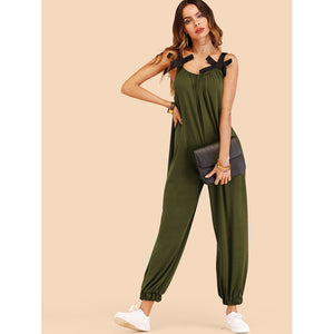 Bow Detail Oversized Jumpsuit
