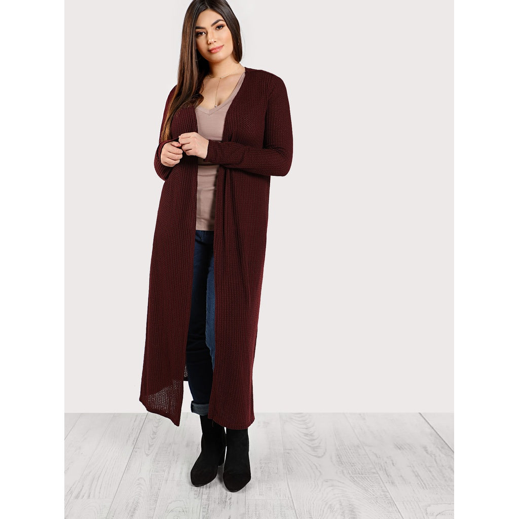 Loose Knit Longline Cardigan - Anabella's
