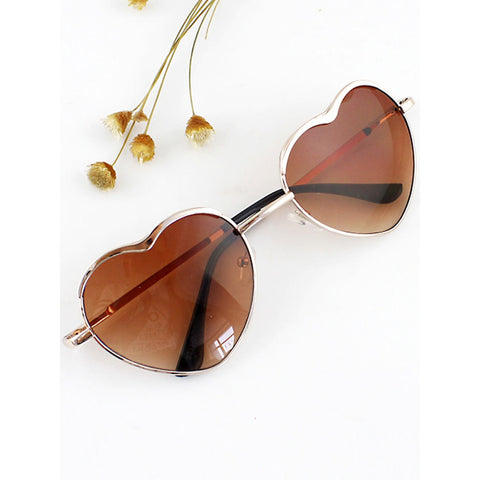Heart Shape Acetate Frame Wrap Sunglasses