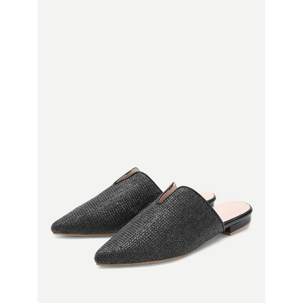 Pointed Toe Woven Flats - Anabella's
