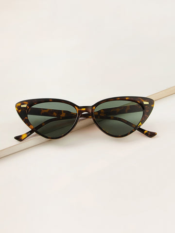 Tortoiseshell Frame Cat Eye Sunglasses