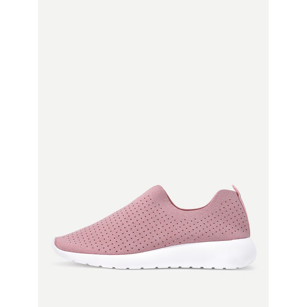 Suede Low Top Slip On Sneakers - Anabella's