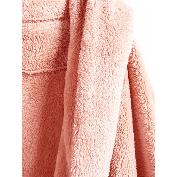Open Front Fluffy Hooded Coat