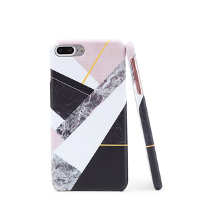 Color Block Marble Print iPhone Case - Anabella's