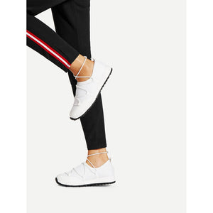 Net Surface Low Top Sneakers - Anabella's