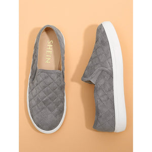 Quilted Round Toe Sneakers