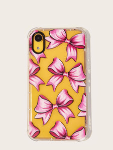 Bow Pattern Transparent iPhone Case