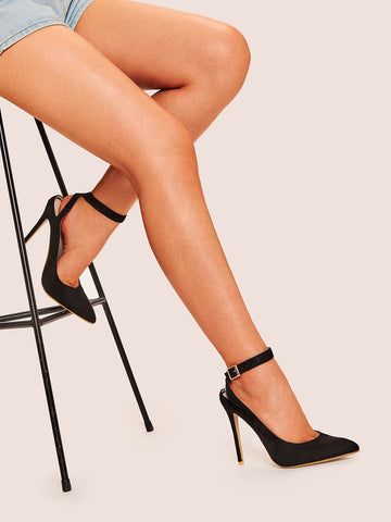 Ankle Strap Point Toe Heels
