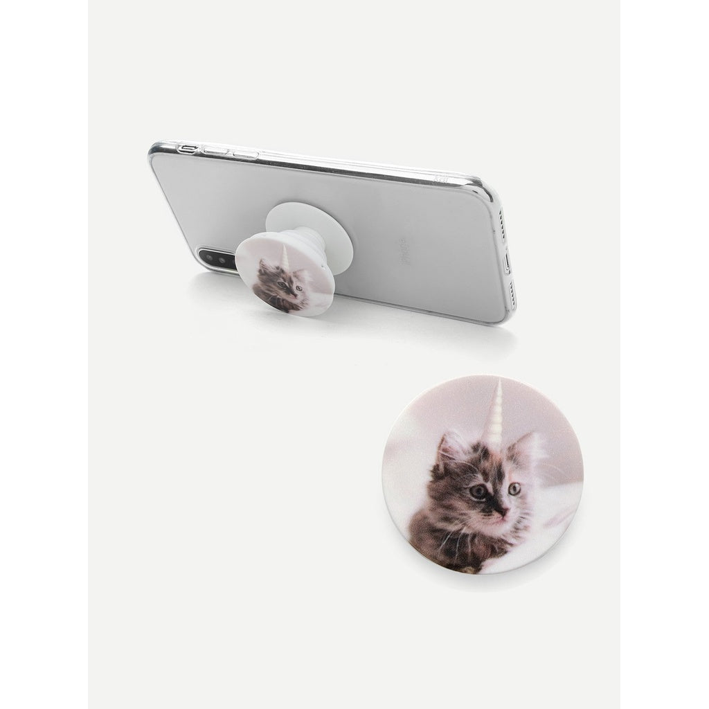 Cat Print Gasbag Phone Holder - Anabella's