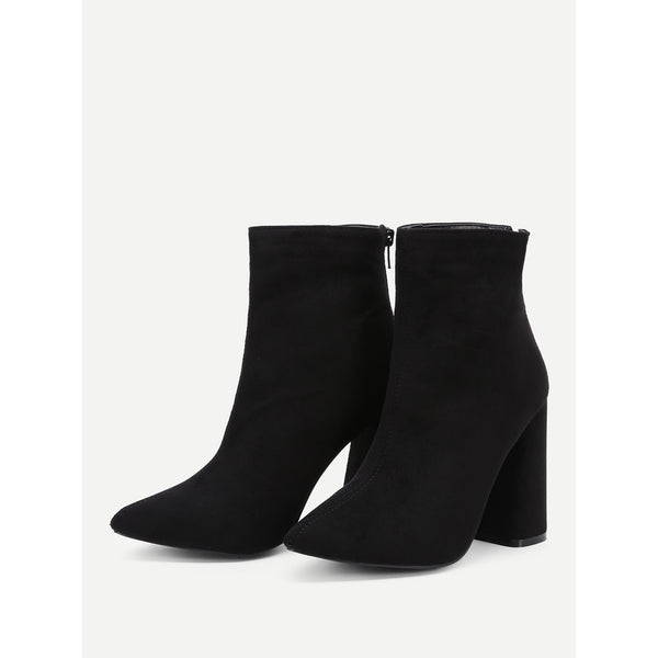 Block Heeled Ankle Boots - Anabella's