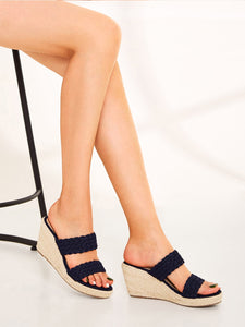 Braided Detail Espadrille Wedges