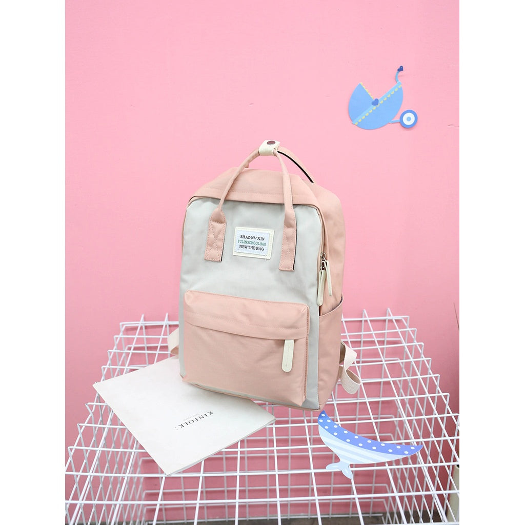 c969ff8334 ... Slogan Patch Detail Square Backpack