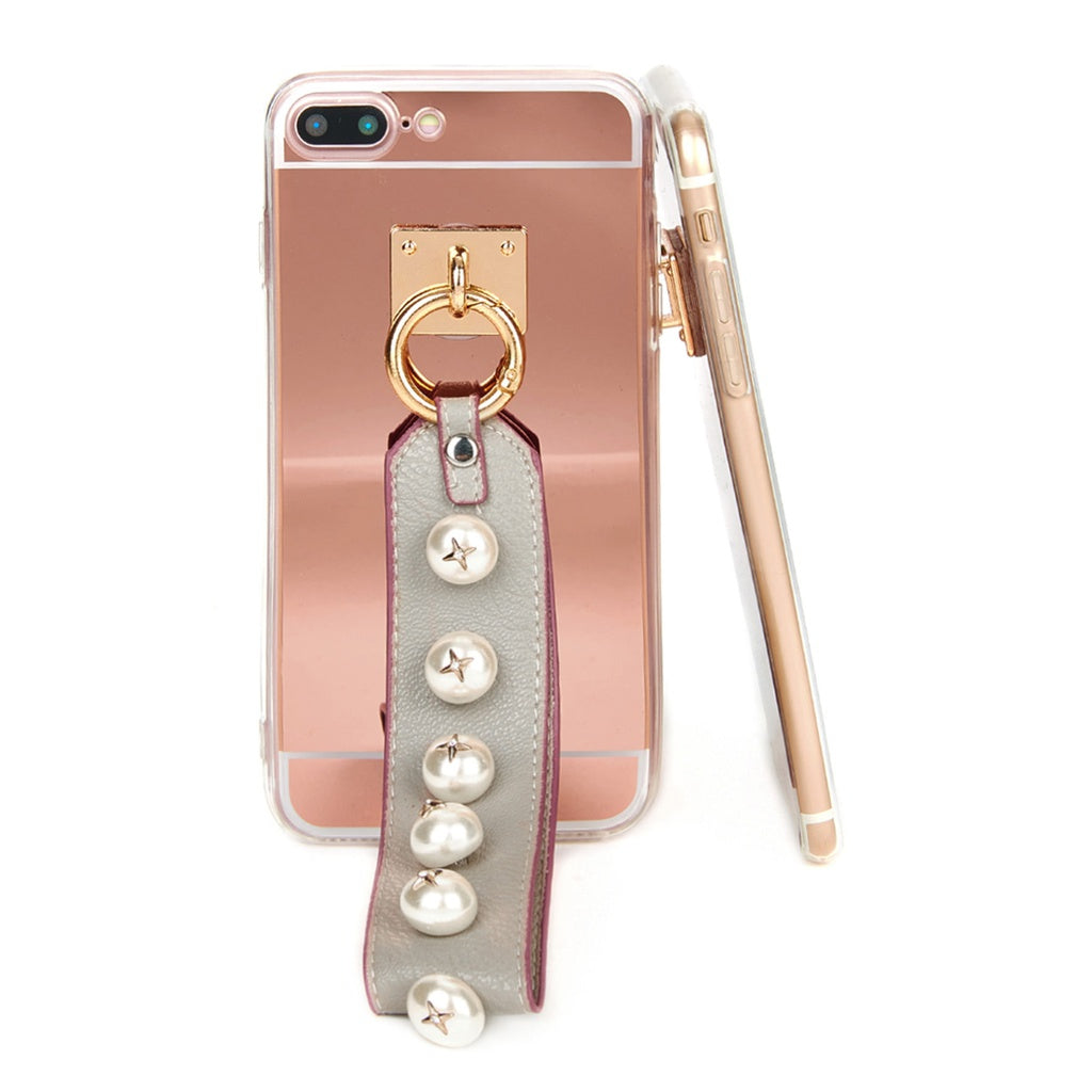 Faux Pearl Embellished Strap Phone Case - Anabella's