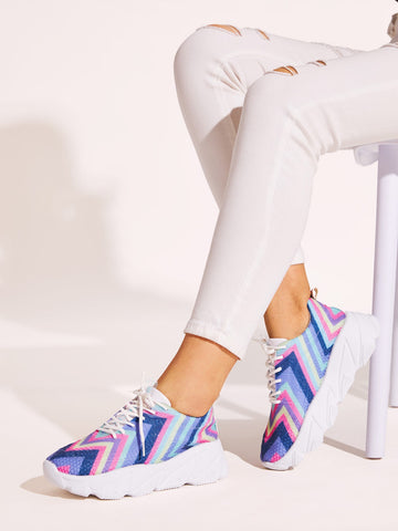 Chevron Detail Chunky Sole Trainers