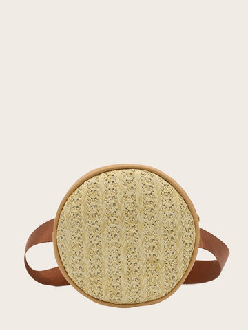 Round Shaped Woven Bum Bag