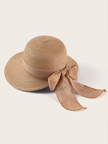 Exaggerated Bow Decor Floppy Hat