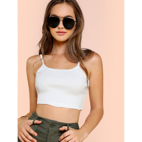 Crop Cami Top White
