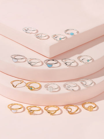 Simple Spiral Ring 19pcs