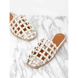 83c814912612f Faux Pearl Embellished Creux Sliders - Anabella s