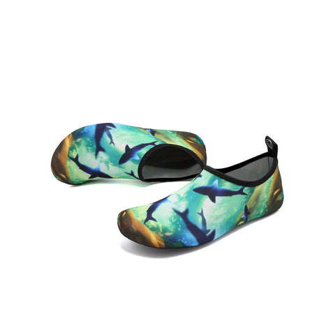 Shark Overlay Slip On Water Trainers