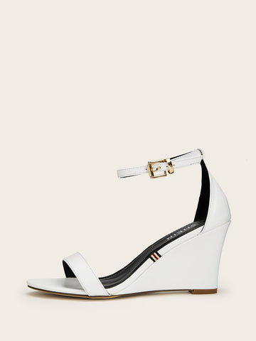 Two Part Ankle Strap Wedges