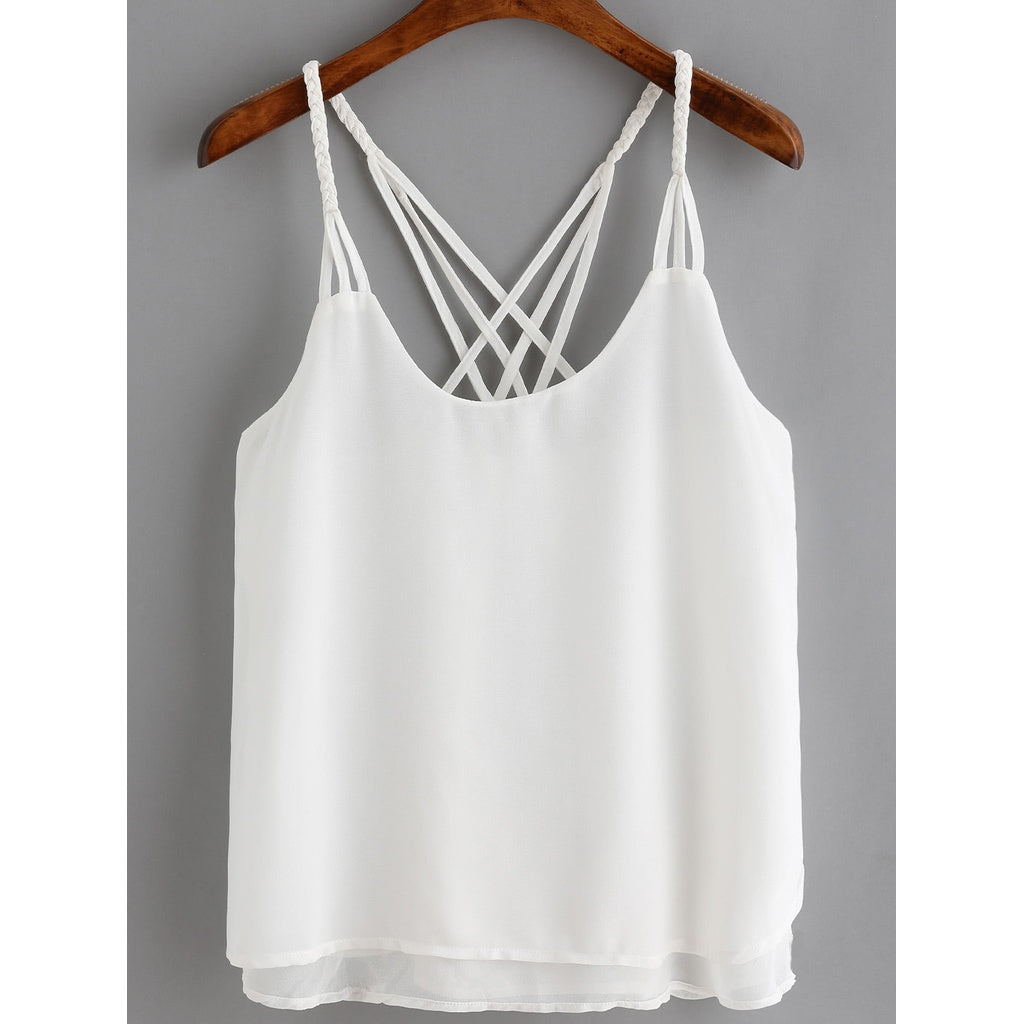 Crossover Loose Cami Top - Anabella's