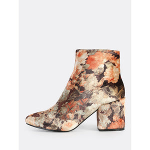 Vintage Inspired Ankle Booties MULTI - Anabella's