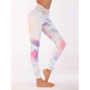 Watercolor Print Leggings