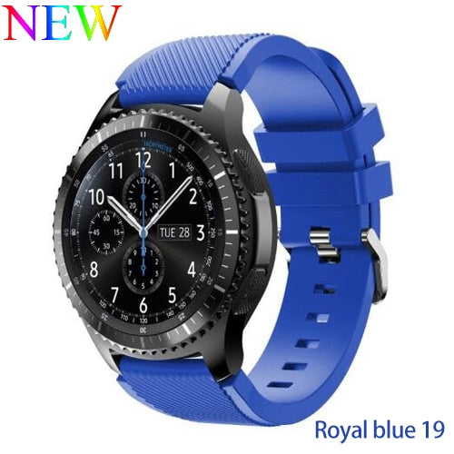 Samsung Galaxy Watch S3 Gear Frontier Classic Silicone Band 22mm & 20mm - LANOOVA STORE