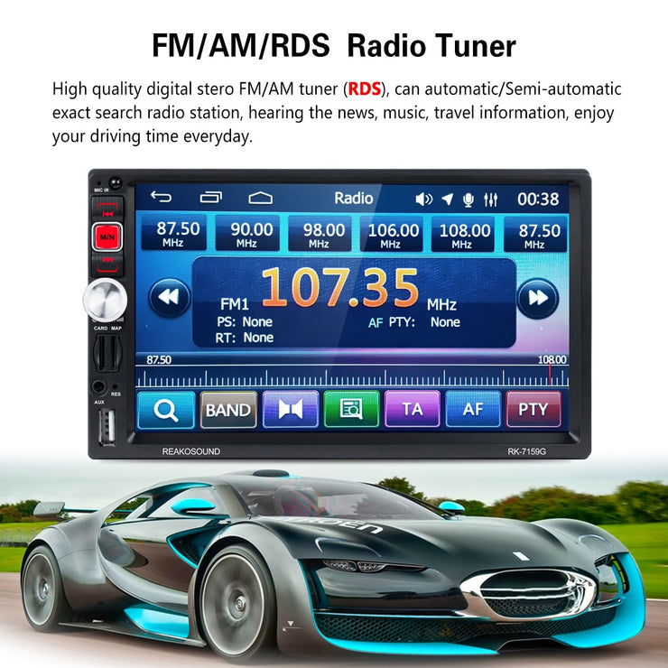 "AMPrime 7"" Autoradio 2 din Car Multimedia Player GPS Navigation Radio Bluetooth FM Mirrorlink Auto Stereo With RearView Camera - LANOOVA STORE"