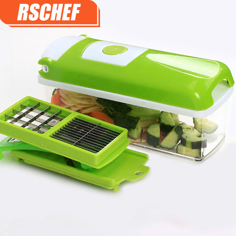 RSChef 12 in 1 Multifunctional Shredder Fruit Vegetable Slicer Dicer Chopper - LANOOVA STORE