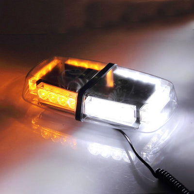 24  LED White Amber Emergency Warning Strobe Magnetic Roof Top Light - LANOOVA STORE