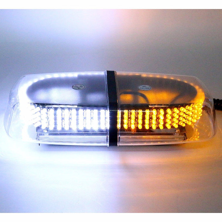 240 LED White Amber Emergency Warning Strobe Magnetic Roof Top Light - LANOOVA STORE