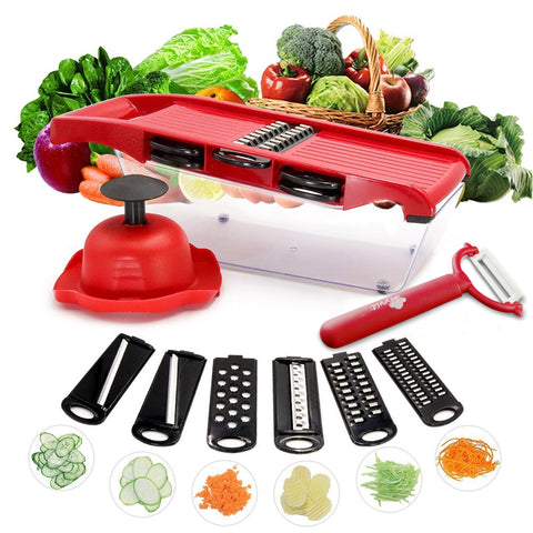 5 in 1 Stainless Steel Blade Vegetables Cutter - LANOOVA STORE