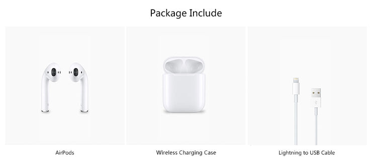 Apple AirPods 2nd Generation with Wireless Charging Case - LANOOVA STORE