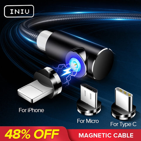 INIU Fast Magnetic Cable Charger Cord For Micro USB Type C Android And iPhone