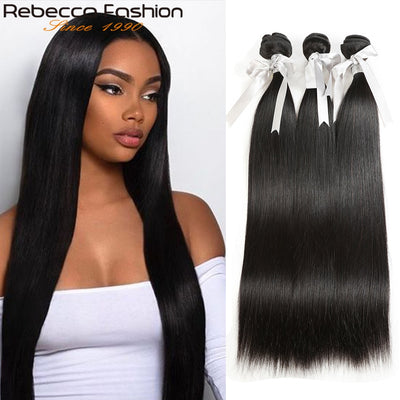 Rebecca Fashion Peruvian Straight Human Hair Bundles Remy 8-30 Inch (1-4PCS) - LANOOVA STORE