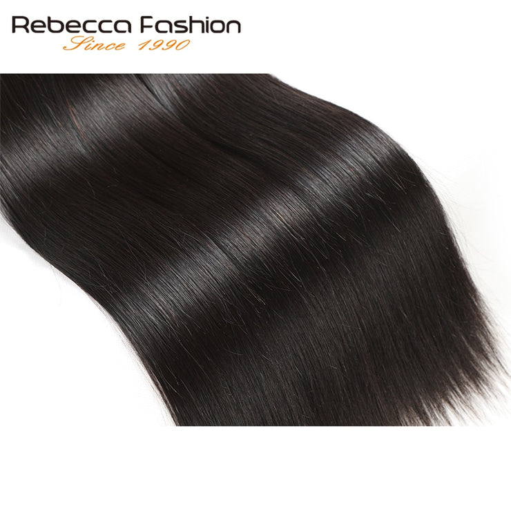Rebecca Fashion Malaysian Straight Human Hair Bundles Non Remy 10-26 Inch (4PCS) - LANOOVA STORE