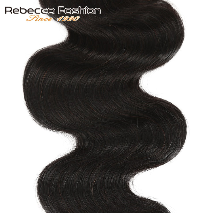 Rebecca Fashion Peruvian Body Wave Human Hair Bundles Non Remy 8-30 Inch (1-3PCS) - LANOOVA STORE