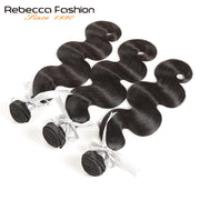 Rebecca Fashion Peruvian Body Wave Human Hair Bundles Non Remy 8-26 Inch (3PCS) - LANOOVA STORE