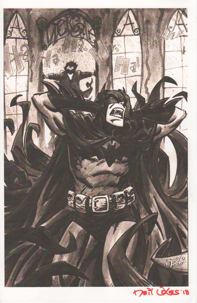BATMAN/JOKER signed print by Neil Vokes