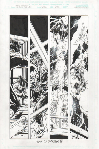 Mark Buckingham PETER PARKER/SPECTACULAR SPIDER-MAN original art