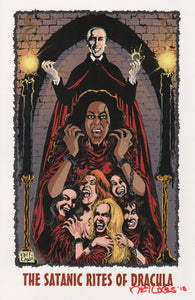 HAMMER DRACULA signed print by Neil Vokes