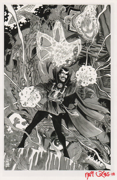 DOCTOR STRANGE signed print by Neil Vokes