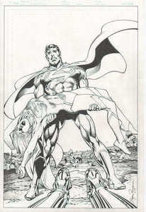 Superman - ACTION COMICS Neal Adams/P. CRAIG RUSSELL Variant Cover - ORIGINAL ART!