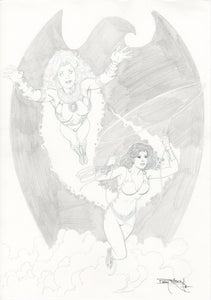 Barry Kitson STARFIRE/WONDER GIRL original art!