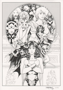 Barry Kitson DC SUPERHEROINES signed & numbered print